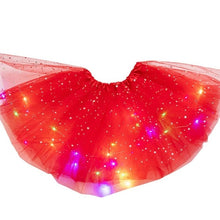 Load image into Gallery viewer, Camila LED Glitter Star Sequins Tutu Skirt Flashing Light Up