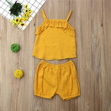 Load image into Gallery viewer, Melody Summer Vest Tops +Shorts 2Pcs