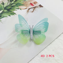 Load image into Gallery viewer, Natalia 2PCS/Set Girl Mini Barrettes Colorful Butterfly