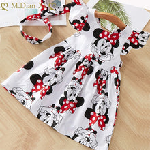Load image into Gallery viewer, Minnie Mouse Dress with Bow