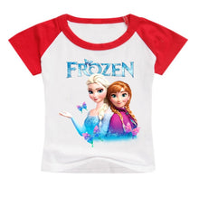 Load image into Gallery viewer, Frozen Anna Elsa Print Short Sleeve T Shirt