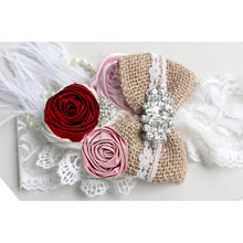Load image into Gallery viewer, Everleigh Vintage Flower/Feather Headband