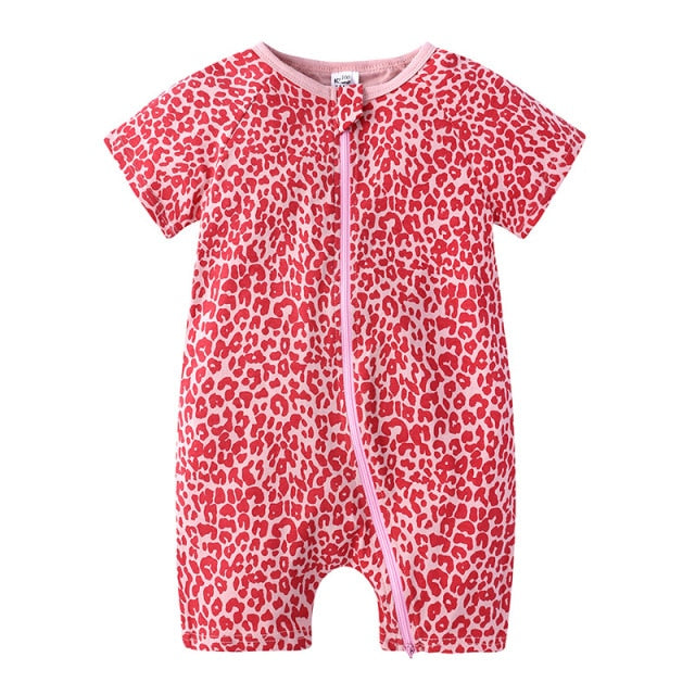 Saylor Short-Sleeve Baby Jumpsuit