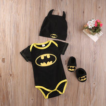 Load image into Gallery viewer, Batman Onesie+Shoes+Hat 3Pcs