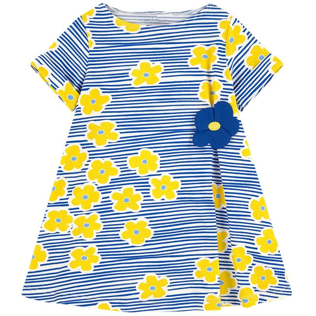 Finley Striped Flower Print Dress