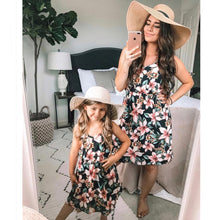 Load image into Gallery viewer, Rebecca Summer Floral Matching Dresses