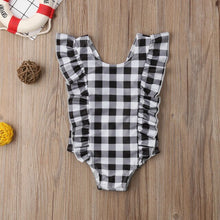 Load image into Gallery viewer, Iris Ruffle Plaid Swimsuit