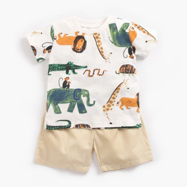 Caiden short-sleeves T-shirt + shorts Summer Outfit