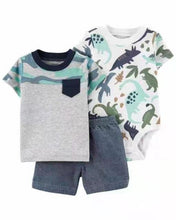Load image into Gallery viewer, Donovan Summer 3PCS Set T-shirt+Bodysuit+Shorts