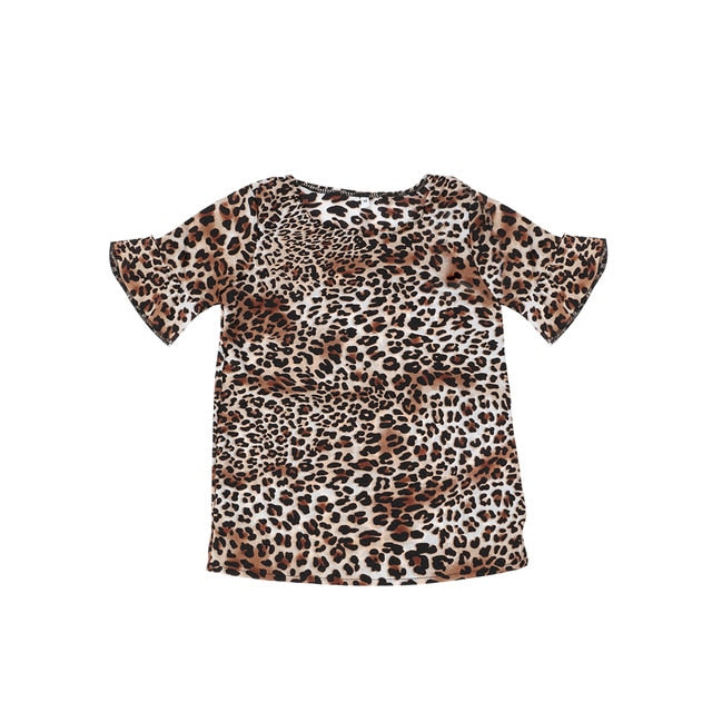 Aniyah Matching Mommy And Me Summer Leopard T-shirt
