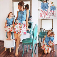 Load image into Gallery viewer, Charlee Matching Mother Daughter Denim Dresses