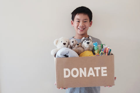 Get kids to donate toys