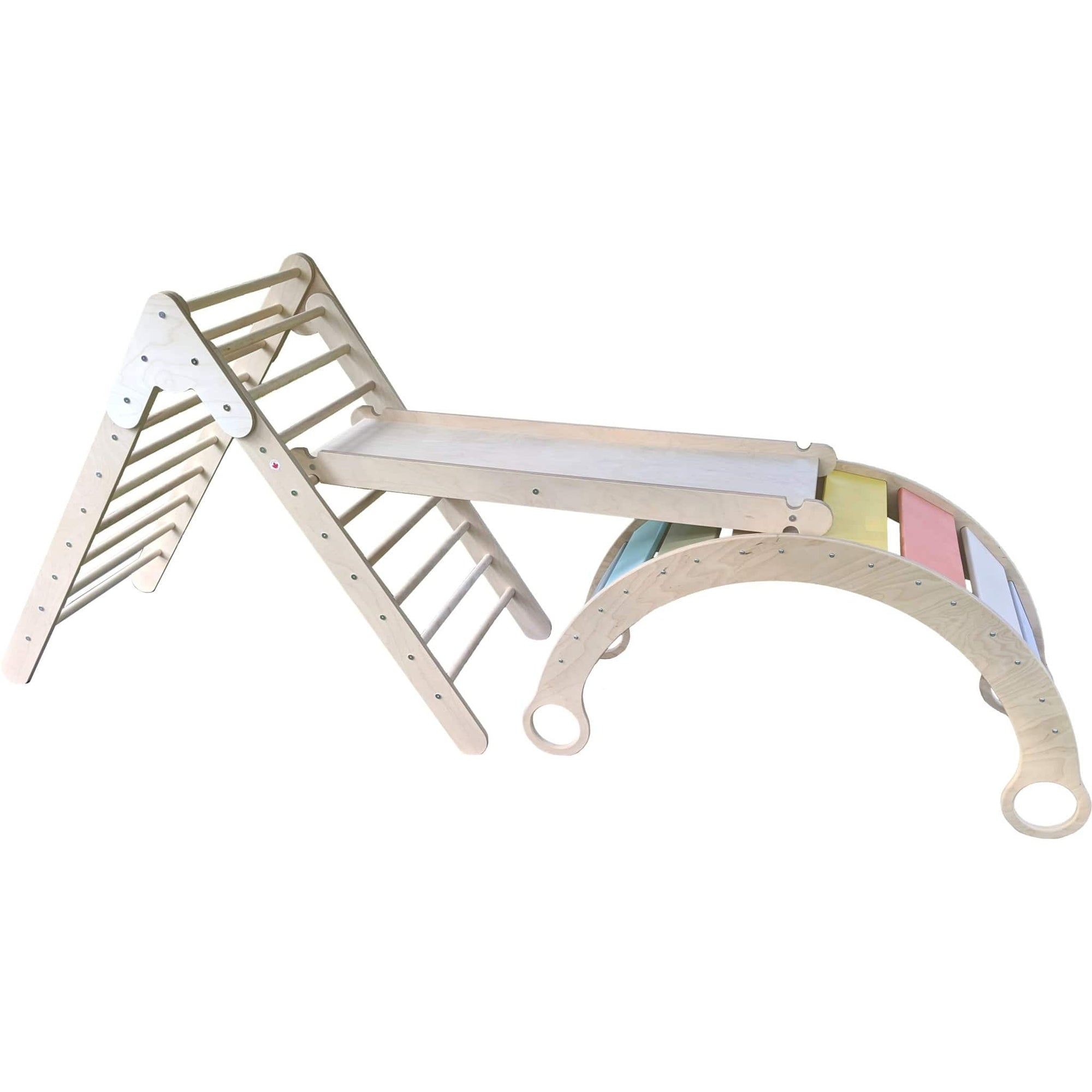 Climbing Bundle #2 - Waldorf Rocker + Pikler + Ramp - The Montessori Room