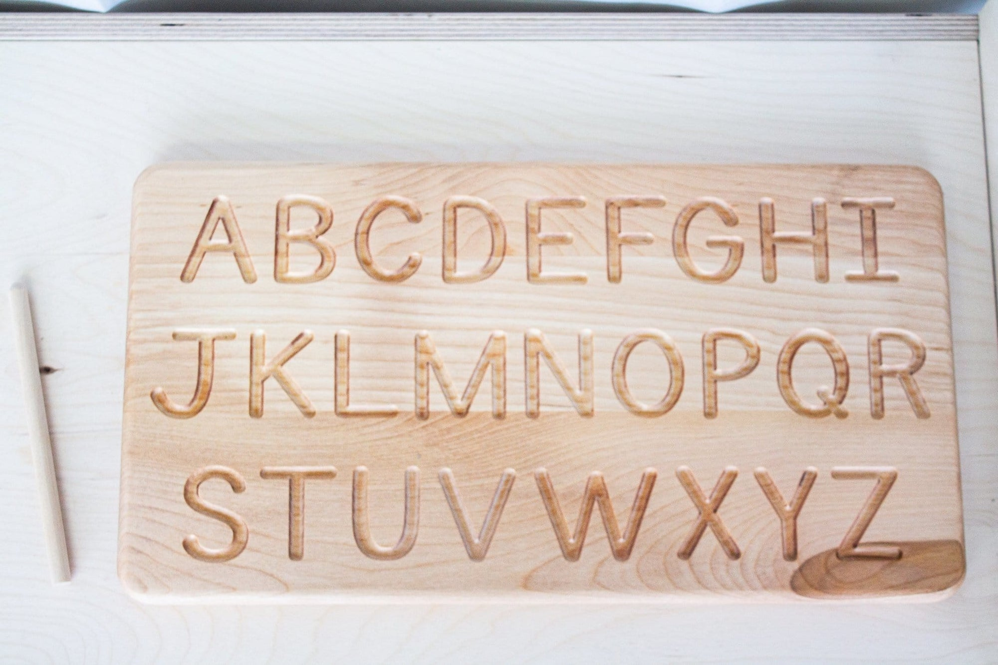 Letter Alphabet Tracing Board - The Montessori Room