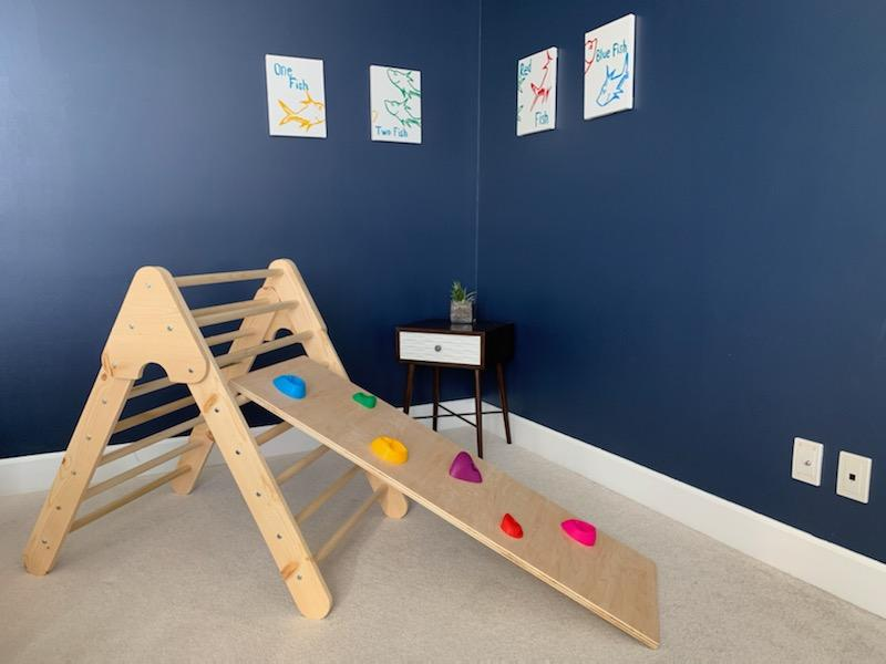 Solid Wood Pikler + Ramp - The Montessori Room