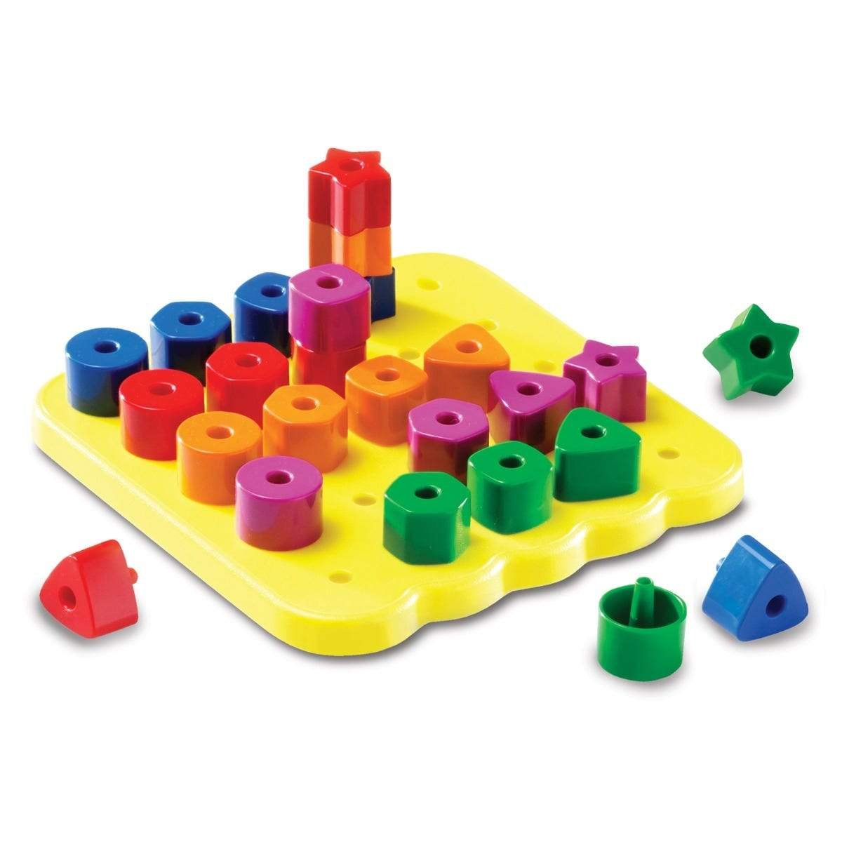 Stacking Shapes Pegboard - The Montessori Room