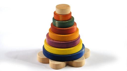 Wooden Stacking Toy - The Montessori Room