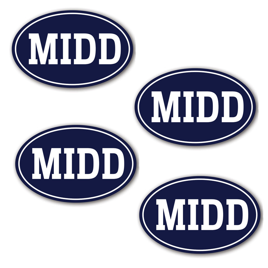 MINI MIDD Decals (4-Pack)