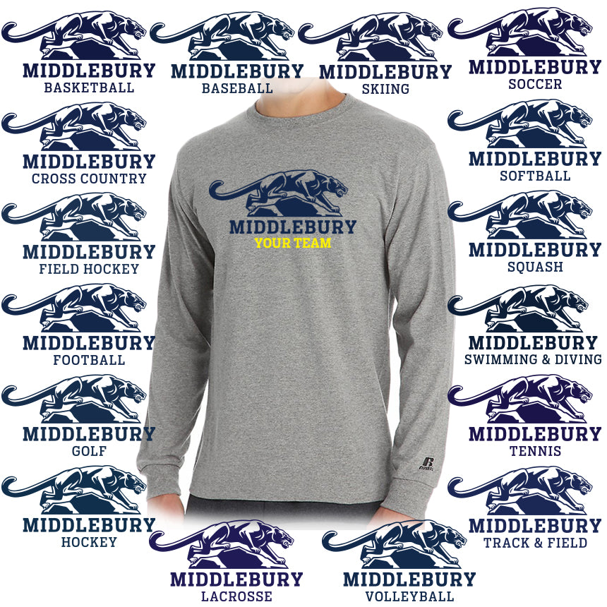 Middlebury Panther Team Long Sleeve (grey)
