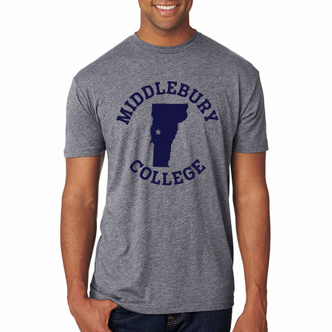 Middlebury College - Vermont Tee (grey)
