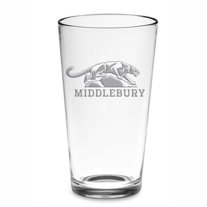 Middlebury Pint Glass (Etched Glass)