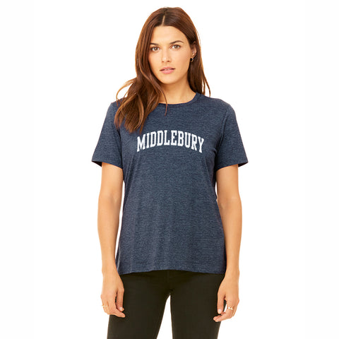 Middlebury (Soft Blend) Womens Tee (navy)