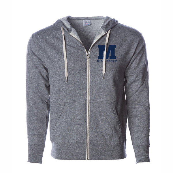 Middlebury Zip Hooded Sweatshirt (grey)