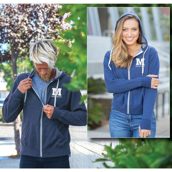 Middlebury Zip Hooded Sweatshirt (navy)