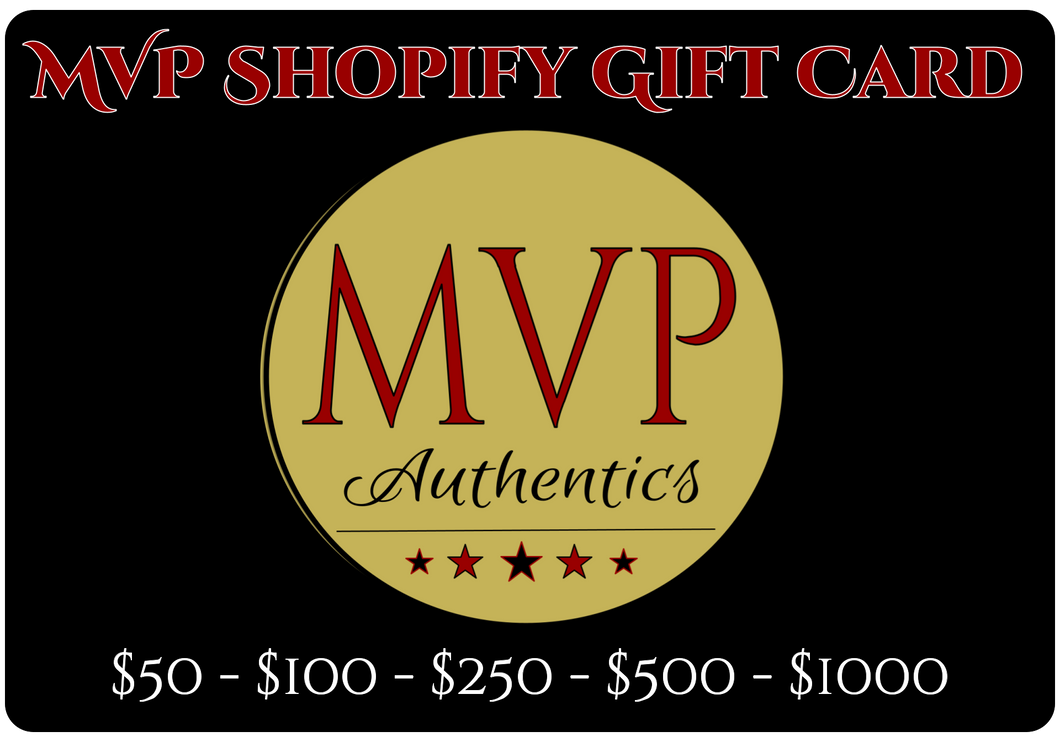 MVP Authentics Online Gift Card
