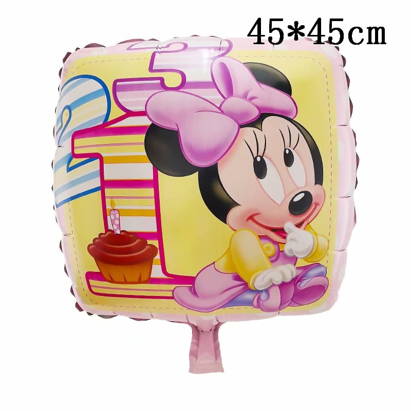 Giant Mickey Minnie Mouse Balloons Magic Spin Booth