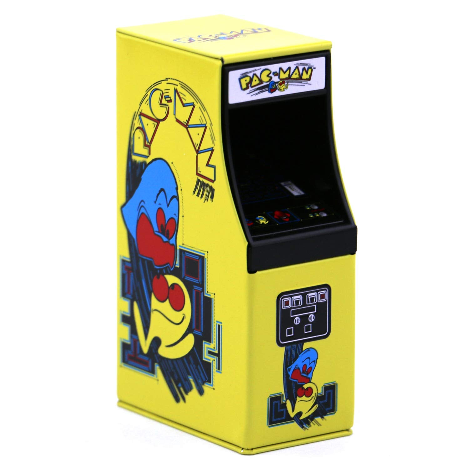 Pac-man Arcade Tin Candy (2 Pack) Strawberry Flavor Gift Stuffer with 2 GosuToys Stickers