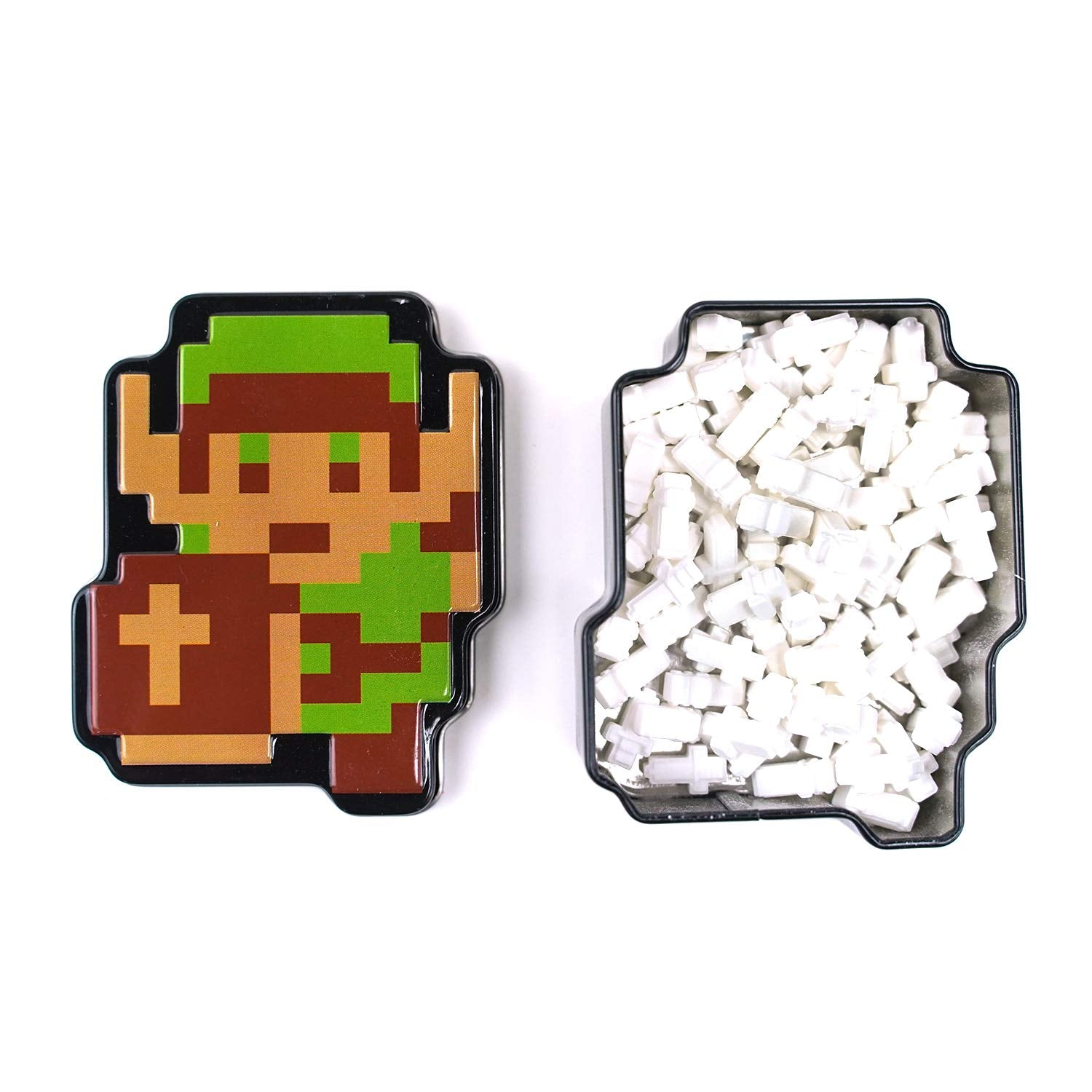 (2 Pack) Nintendo Legend of Zelda Retro Link Master Swords Tin Candy Orange Flavor Gift Stuffer with 2 GosuToys Stickers