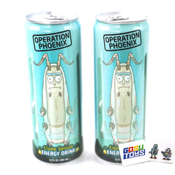 Rick and Morty Operation Phoenix Clone Serum Energy Drink (2 Pack) with 2 Gosutoys Stickers