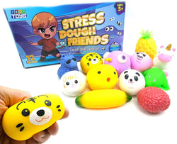 Gosu Toys Stress Dough Friends Soft Stress Balls Stretchy Dough Ball! (12 Pack Box)