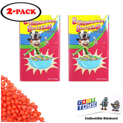 Rick and Morty Strawberry Smiggles Crunchy Strawberry Flavored Candy (2 Pack) with 2 GosuToys Stickers