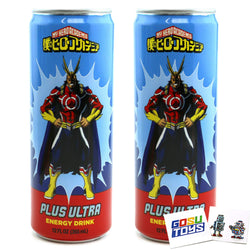 My Hero Academia All Might Plus Ultra Energy Drink (2 Pack) 12 FL OZ (355mL) Can With 2 GosuToys Stickers