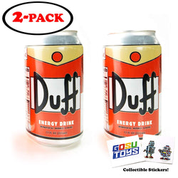 The Simpsons Duff Energy Drink (2 Pack) Wonderful Orange Flavor with 2 GosuToys Stickers Brand: Gosu Toys