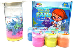 Gosu Toys Atlantis Sand Hydrophobic Magic Sand Box Set Over 2lbs of Sand 6 Colors (Green, Yellow, Pink, Blue, Orange, Purple)