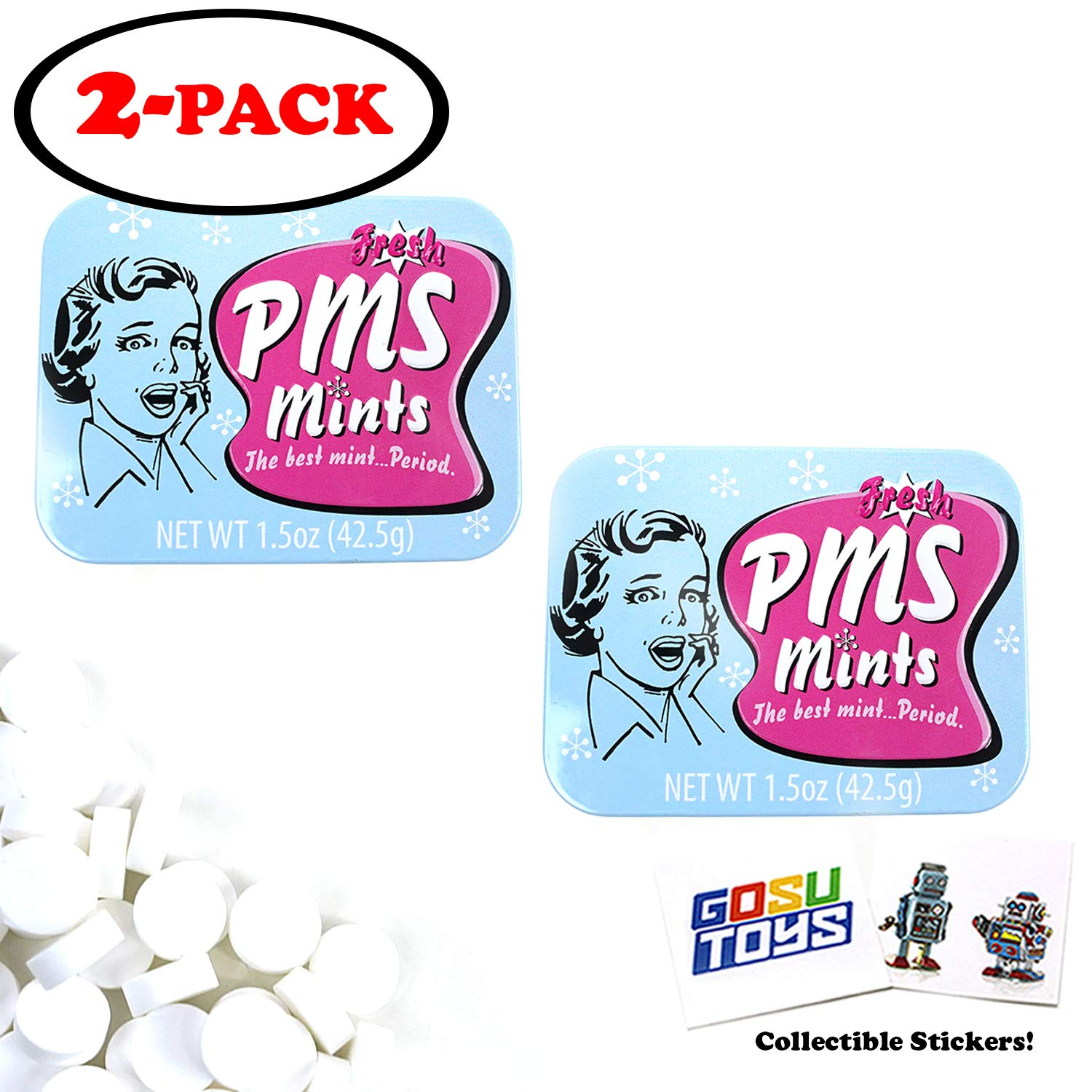 Fresh PMS Mints (2 Pack) with 2 GosuToys Stickers