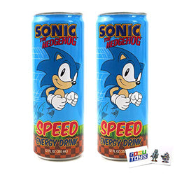 Sonic Speed Energy Drink 12 FL OZ (355mL) Can (2 Pack) With 2 GosuToys Stickers