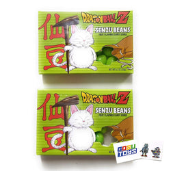 Dragonball Z Senzu Beans Candy Fruit Flavored DBZ Candy Sours (2 pack) with 2 Gosu Toys Stickers