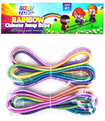Gosu Toys Rainbow Chinese Jump Ropes Bundle Pack for Kids Outdoor Indoor Play