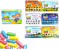GosuToys Magic Grow Capsules Creatures - 6 Theme Packs with 12 Capsules Each - Farm, Sea, Unicorns, Dinosaurs, Safari, Vehicles