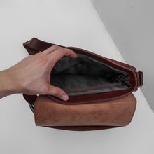 Load image into Gallery viewer, E.V.L. Messenger Bag | Dark Brown