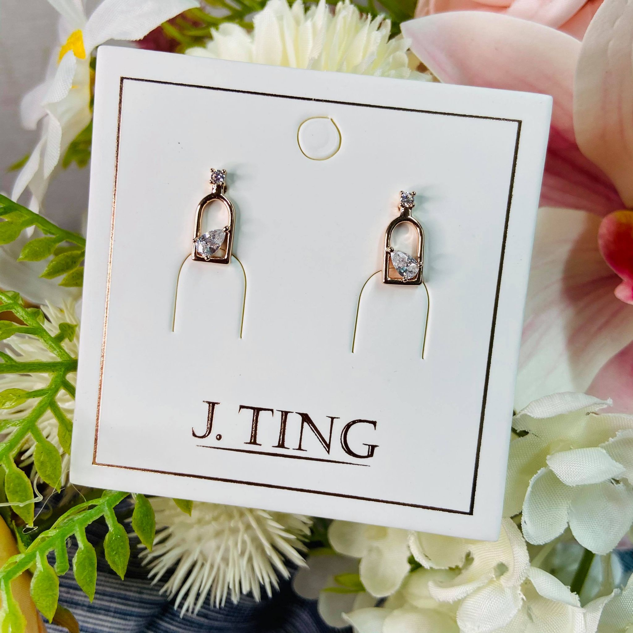 Rose Gold Window Earrings