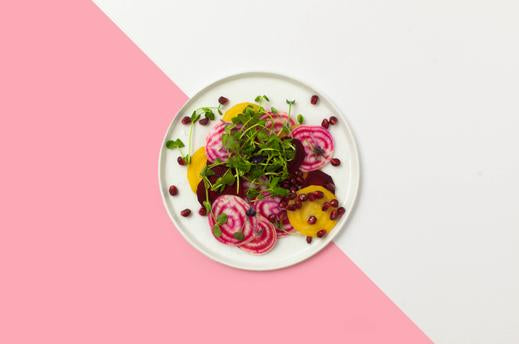 Beet and pomegranate salad