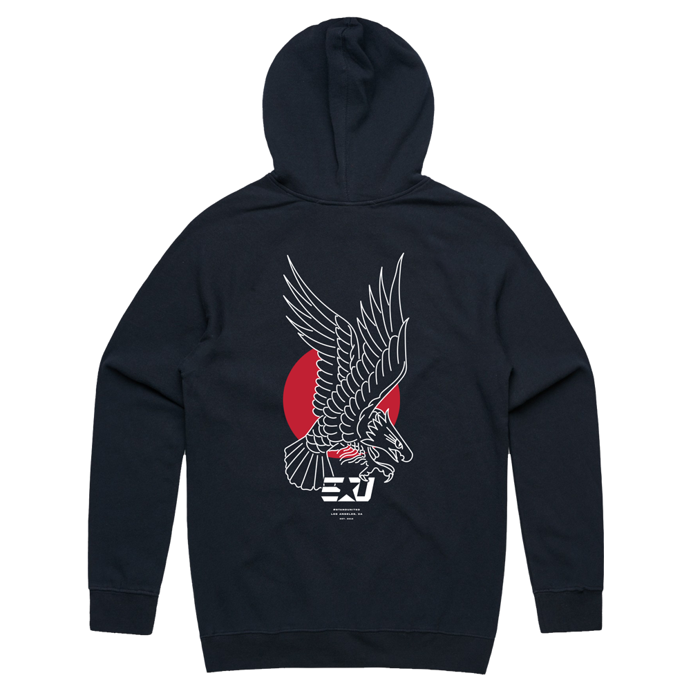 eUnited Eagle Pullover Hoodie - Navy Blue