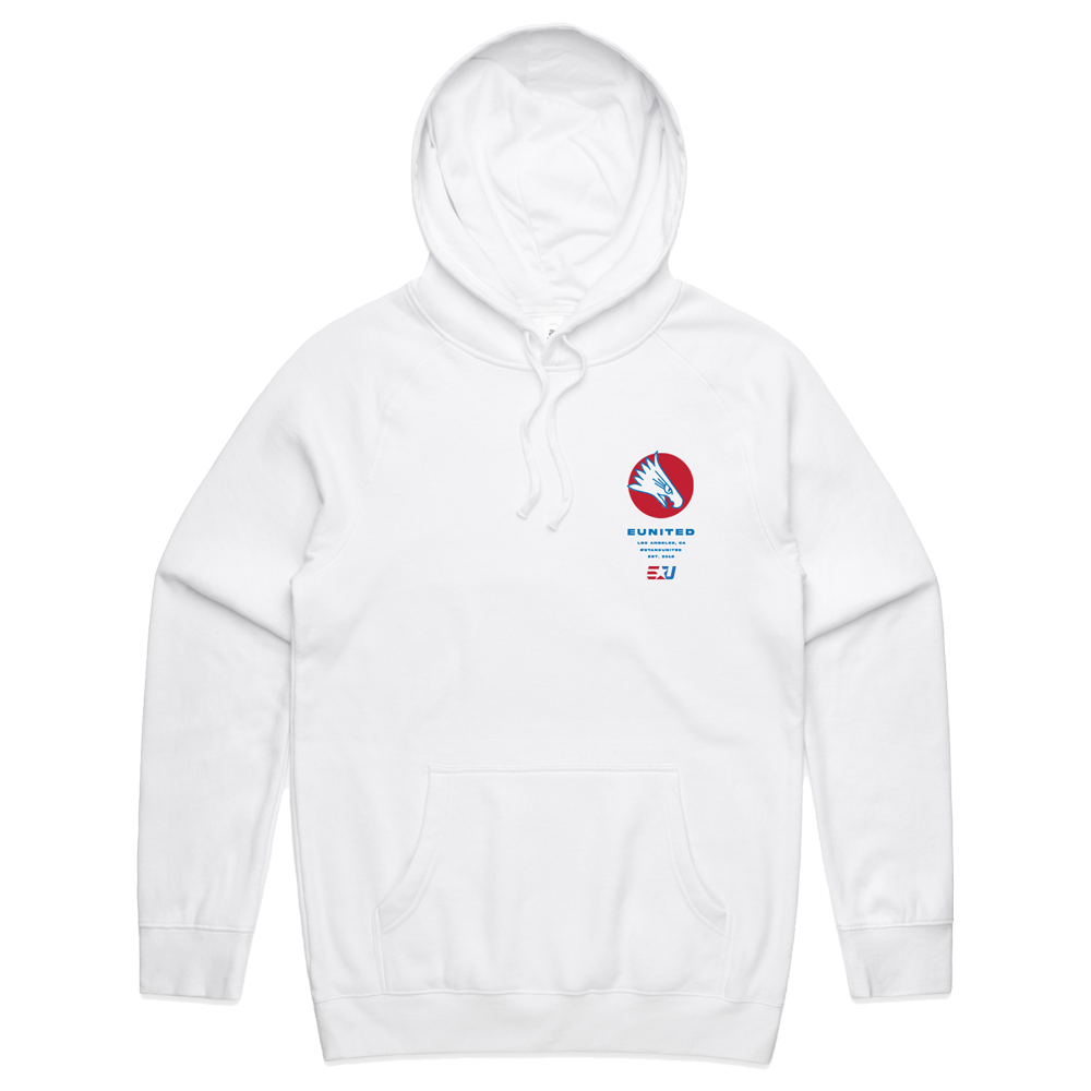 eUnited Eagle Pullover Hoodie - White