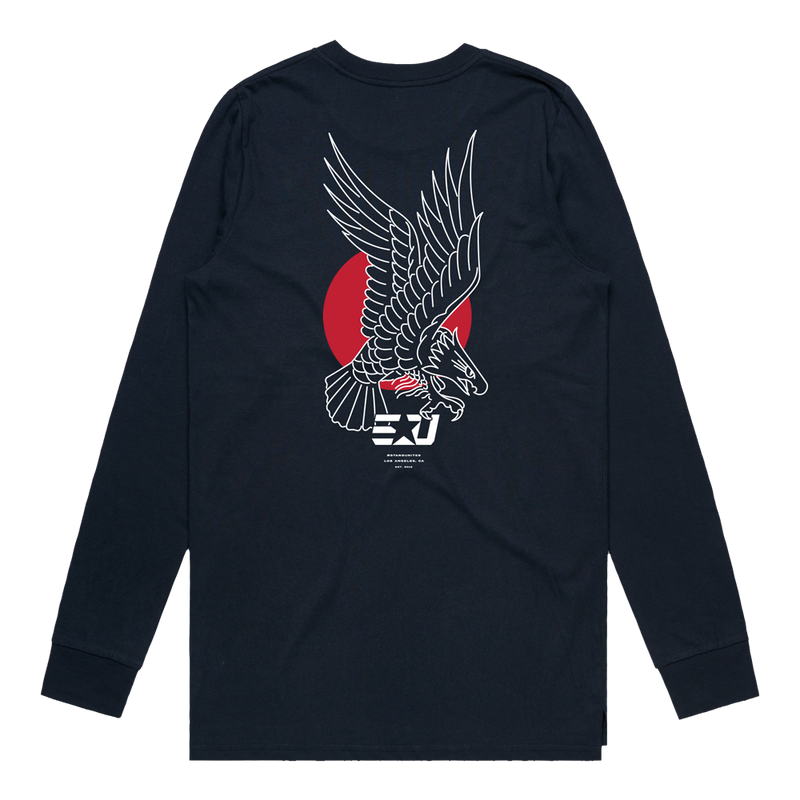 eUnited Eagle Longsleeve Tee - Navy Blue