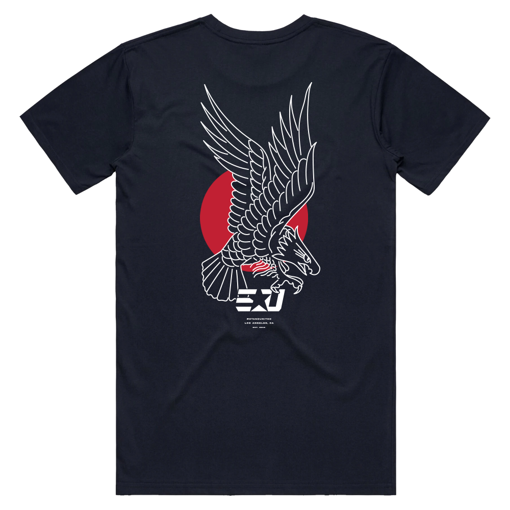 eUnited Eagle Shortsleeve Tee - Navy Blue